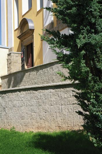 Jednostranně štípané zdivo pro betonové ploty HX 2/19 B