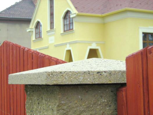 Betonové plotové hlavice - hladké