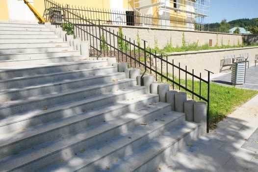 Betonové schody, ploché
