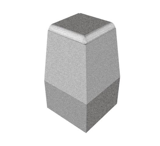 Silniční obrubník rohový – vnější, roh 90°