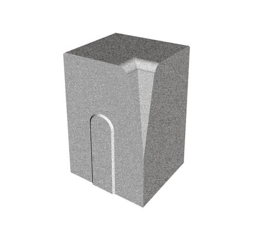 Silniční obrubník rohový - vnitřní, roh 90°